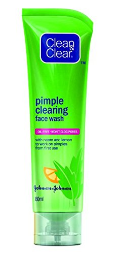 Clean & Clear Pimple Clearing Face Wash, 80g