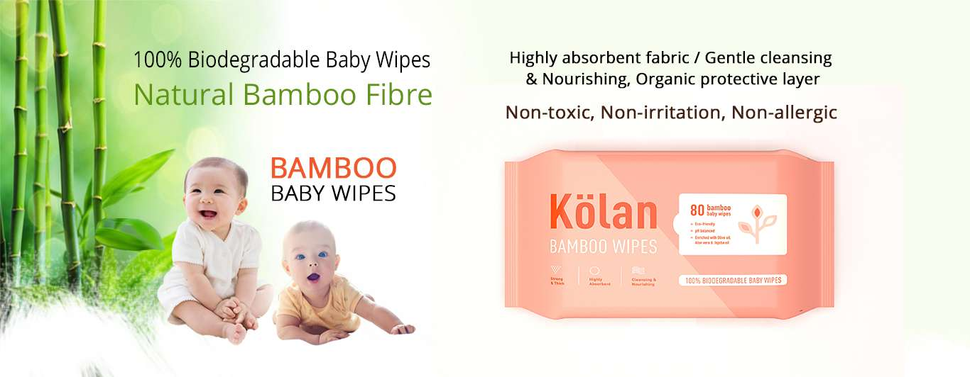 1st pack of Kolan Bamboo baby wipes for free