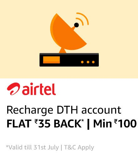 Amazon - Get Flat Rs.35 Cashback on Rs.100 Airtel DTH Recharge