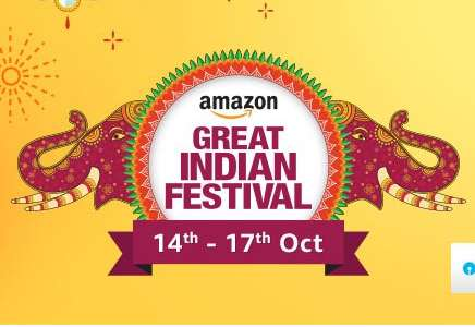 Amazon Great Indian Festival Sale 21th - 24th Sep 2017 + 10% Cashback With Amazon Pay & HDFC Cards