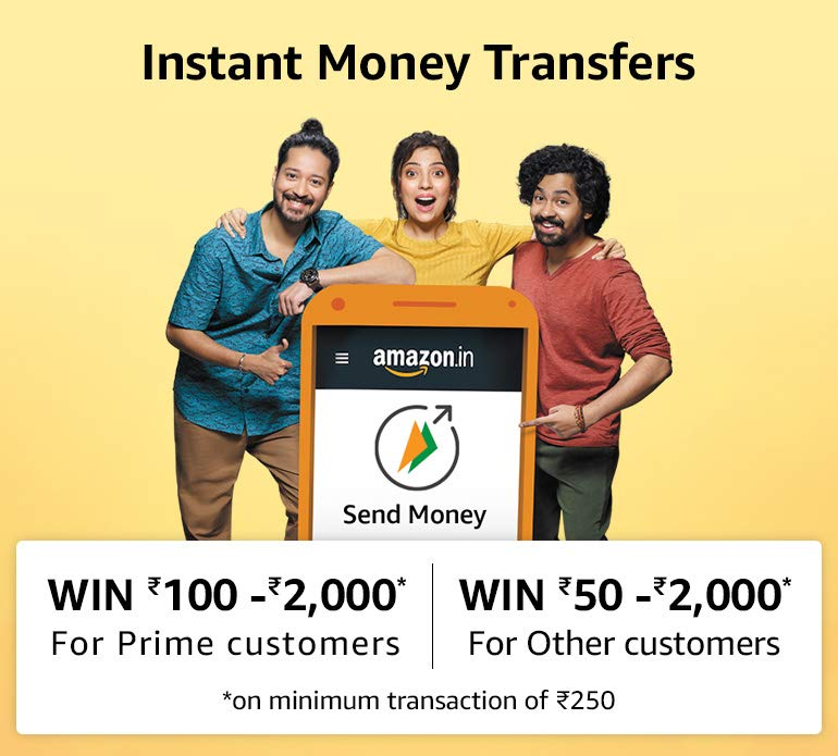 Amazon Pay Send Money Rs. 250 Or More & Get Upto Rs.2000 Cashback