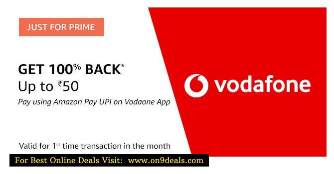 Amazon Pay UPI & Vodafone Loot @ Rs.249 Get 4GB Per Day Data For 28 Days & For Rs.349 Get 3GB Per Day Data For 56 Days