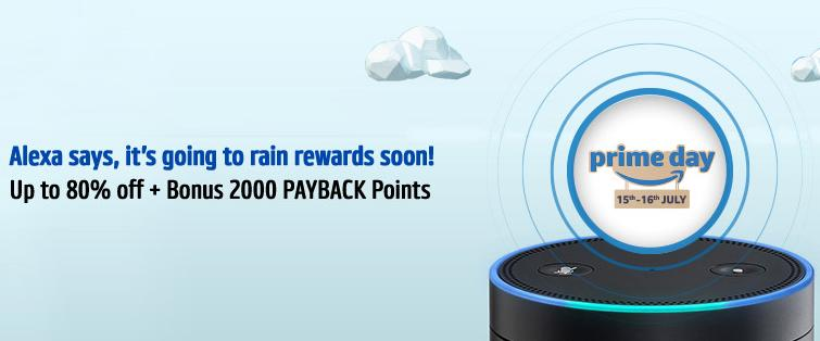 Amazon Prime Day Offer Get 2000 Payback Points on Shopping Worth 2000 @ Amazon on 15-16 July