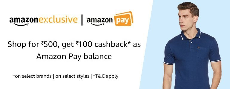 Amazon - Rs.100 cashback as Amazon Pay balance on purchase of Rs.500 from seller Cloudtail