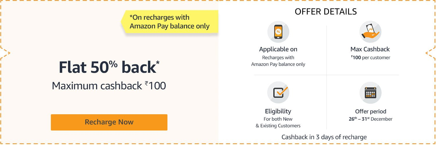 Amazon - Shop with Amazonpay balance and get 15% cashback