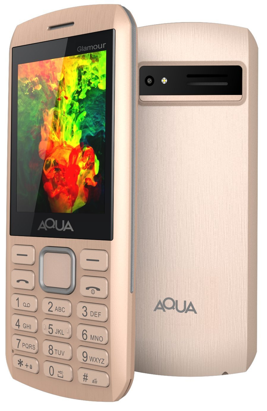 Aqua Glamour Gorgeous Dual Sim 2.4 inch Big Screen 1500 mAh Powerful Battery Mobile Phone