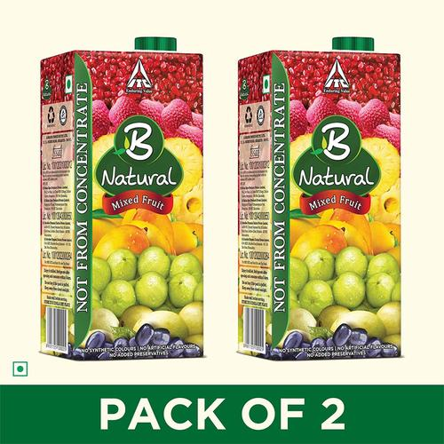 B Natural Fruit Juice 1L (Pack of 2) @ Rs.139 Only