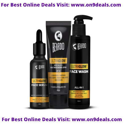 Beardo The Ultraglow Trio Combo @ Rs.270 Worth Rs. 1150 After Cashback