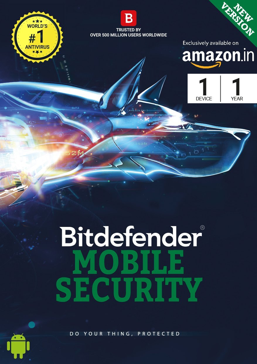 BitDefender Mobile Security Latest Version- 1 Device - 1 Year (Voucher)