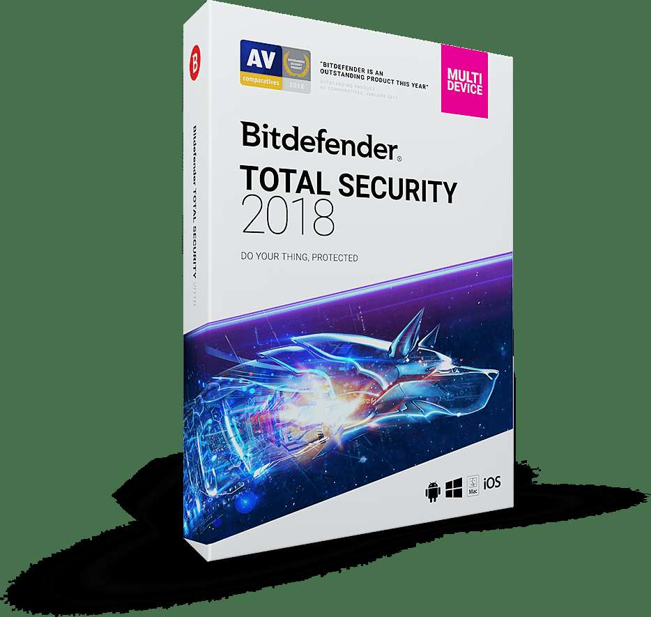 Bitdefender Total Security 2018 Free 6 Months Subscription