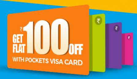 BookMyShow Rs.100 off with Pockets Visa Cards