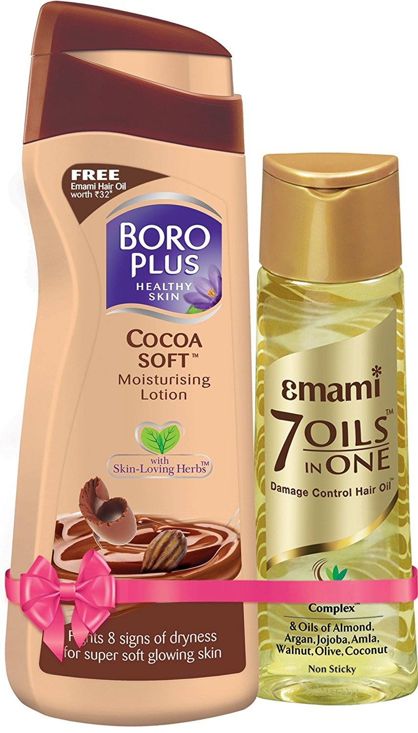 Boroplus Cocoa Soft Moisturizing Lotion, 100ml + Free Emami Hair Oil Worth Rs 32