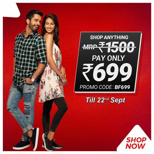 BrandFactoryOnline Buy For Rs.1500 Clothes Rs.699