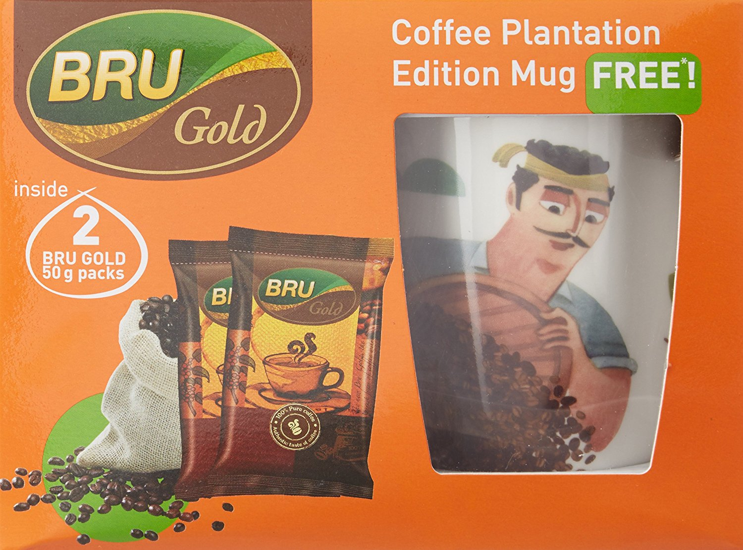 Bru Gold With Free Mug Combo Pack, 100g