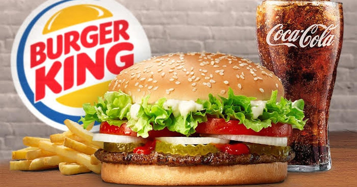 Burger King - 2 Veg Whopper/Chicken + 2 Burger King Sundae + 1 Cheesy Fries + 2 Regular Pepsi @ Rs.116 Worth Rs.525