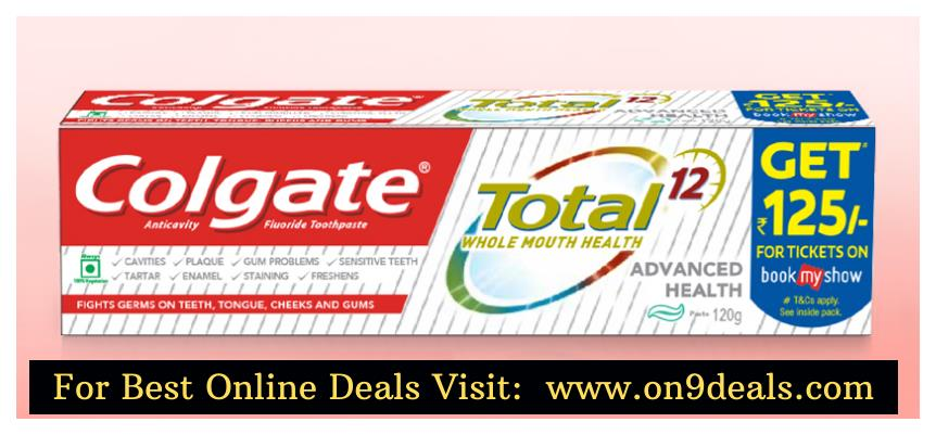 Buy Colgate Total Toothpaste 120gm and Get Free Rs.125 BMS Voucher