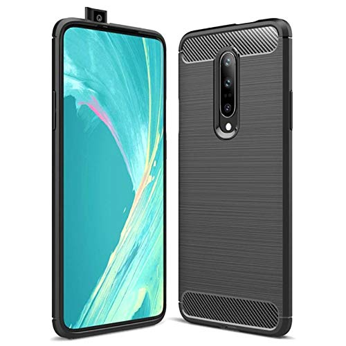 Carbon Fiber Resilient Shock Absorption Back Cover Case for Oneplus 7 Pro
