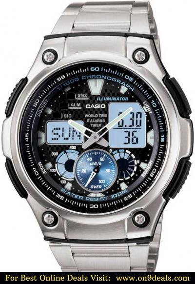Casio AD160 Youth Combination ( AQ-190WD-1AVDF ) Analog-Digital Watch - For Men