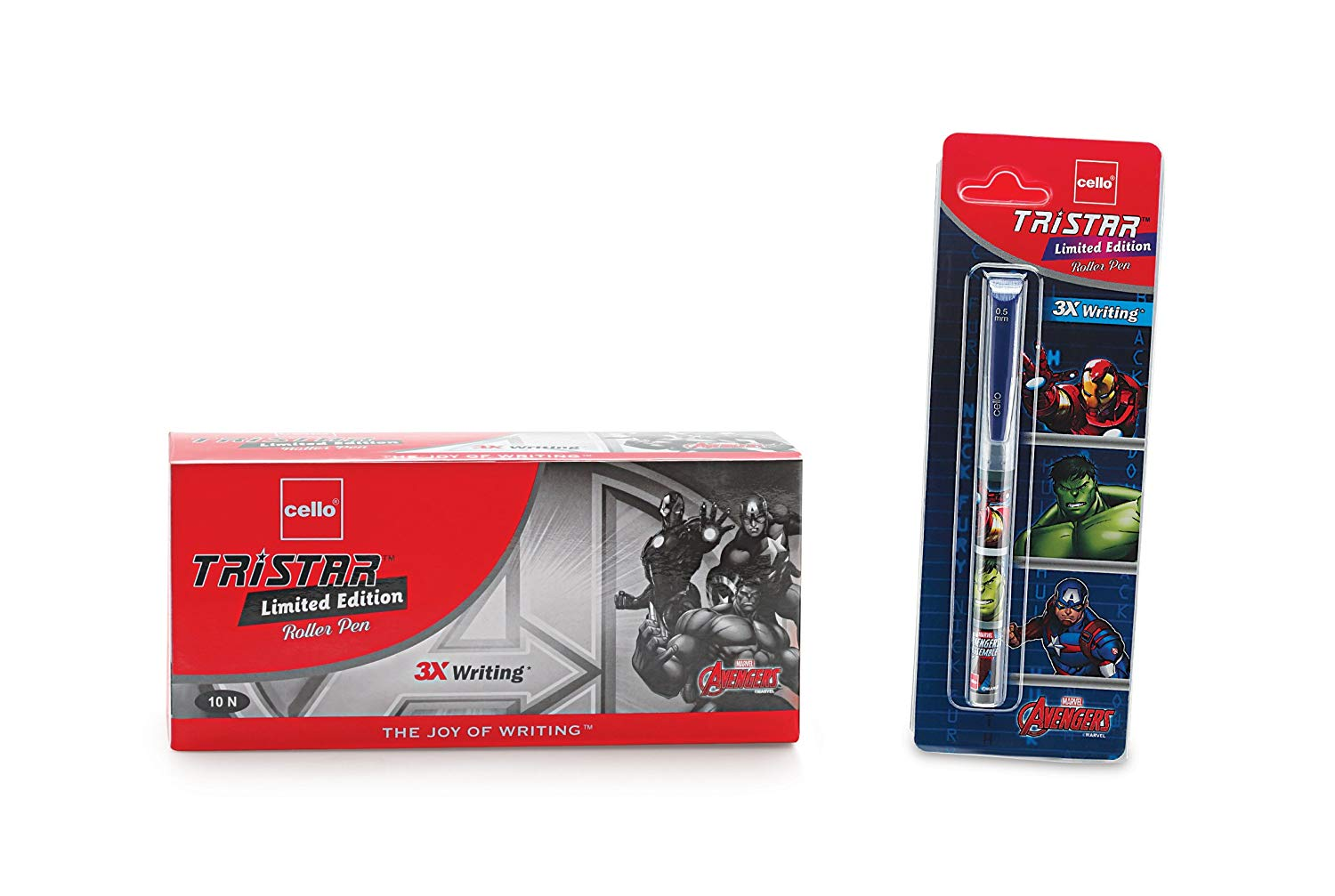 Cello Tristar Limited Edition Avengers Pen Set - Pack of 10