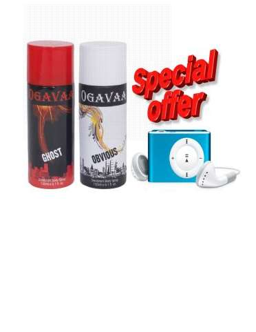 Combo of 2 Ogavaa Deodorants And MP3 Player