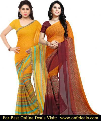 Combo Pack of 2 Women Sarees @ Rs.499 Only