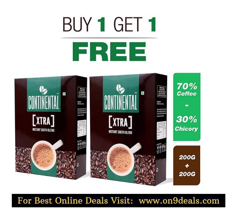 Continental XTRA Instant Coffee Powder 50g Sachet PACK OF 2 ( BUY 2 + GET 2 FREE )