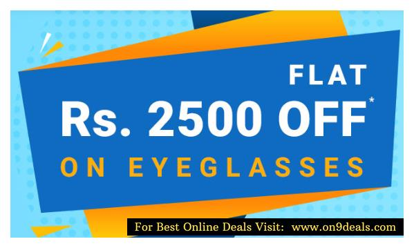 Coolwinks – Get flat Rs.2500 off on Eyeglass purchase of Rs.3500 or above