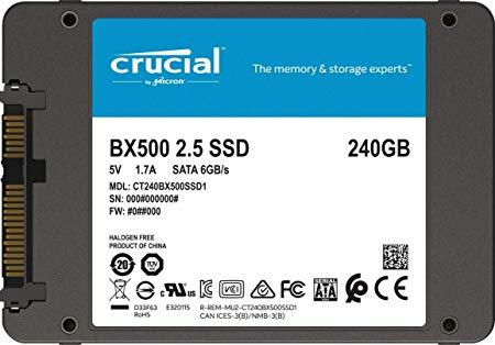 Crucial BX500 240GB 3D NAND SATA 2.5-Inch Internal SSD
