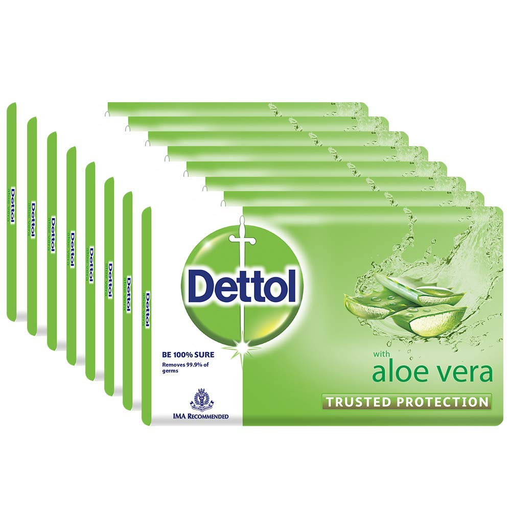 Dettol Soap - 100 g (Pack of 8, Aloe Vera)
