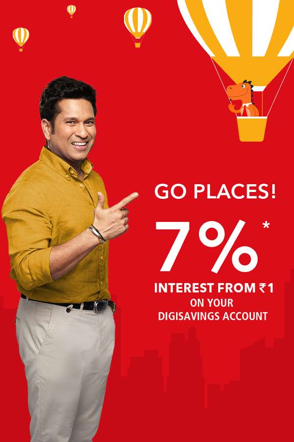 Digibank - Get Rs.50 Cashback on Adding funds to your digibank account using UPI