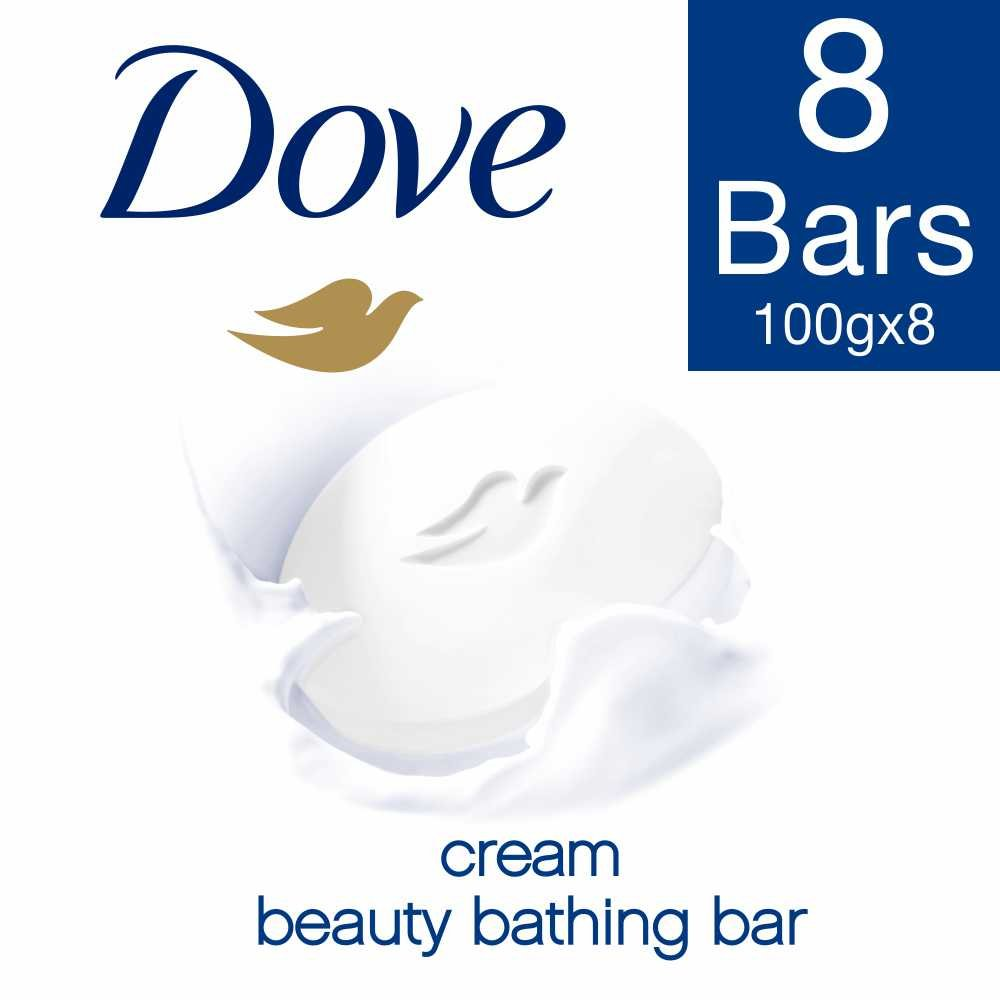 Dove Cream Beauty Bathing Bar  (8 x 100 g)