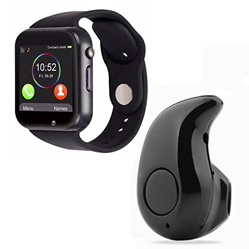 Drumstone S2 Bluetooth Wrist Smart Watch and Mini M530 Bluetooth 4.1 in-Ear Headset