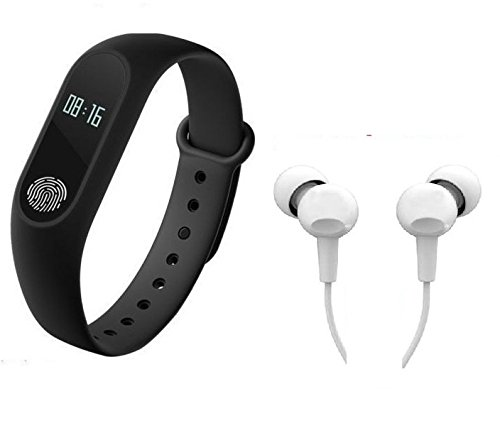 Easypro Bluetooth M2 Fitness Band With Heart Rate Sensor Smart Band And Fitness Tracker Free Earphone