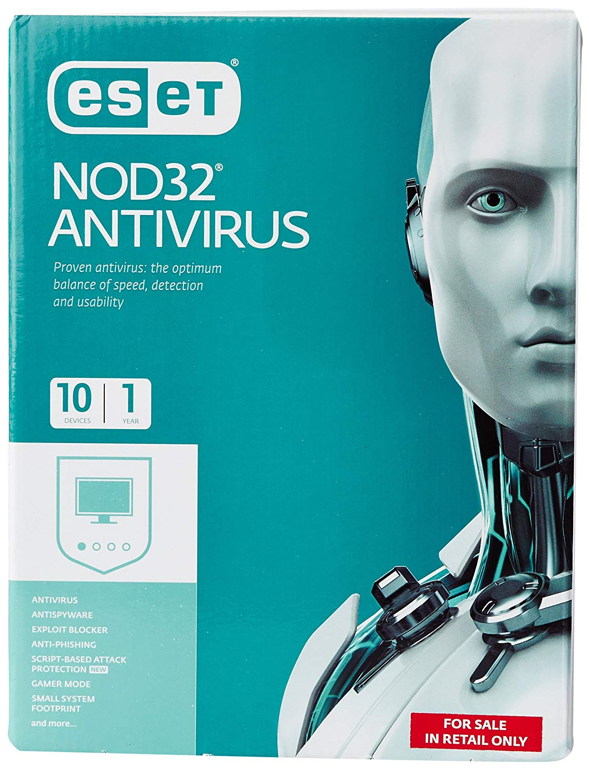 ESET NOD32 Antivirus - 10 PCS for 1 Year (CD)