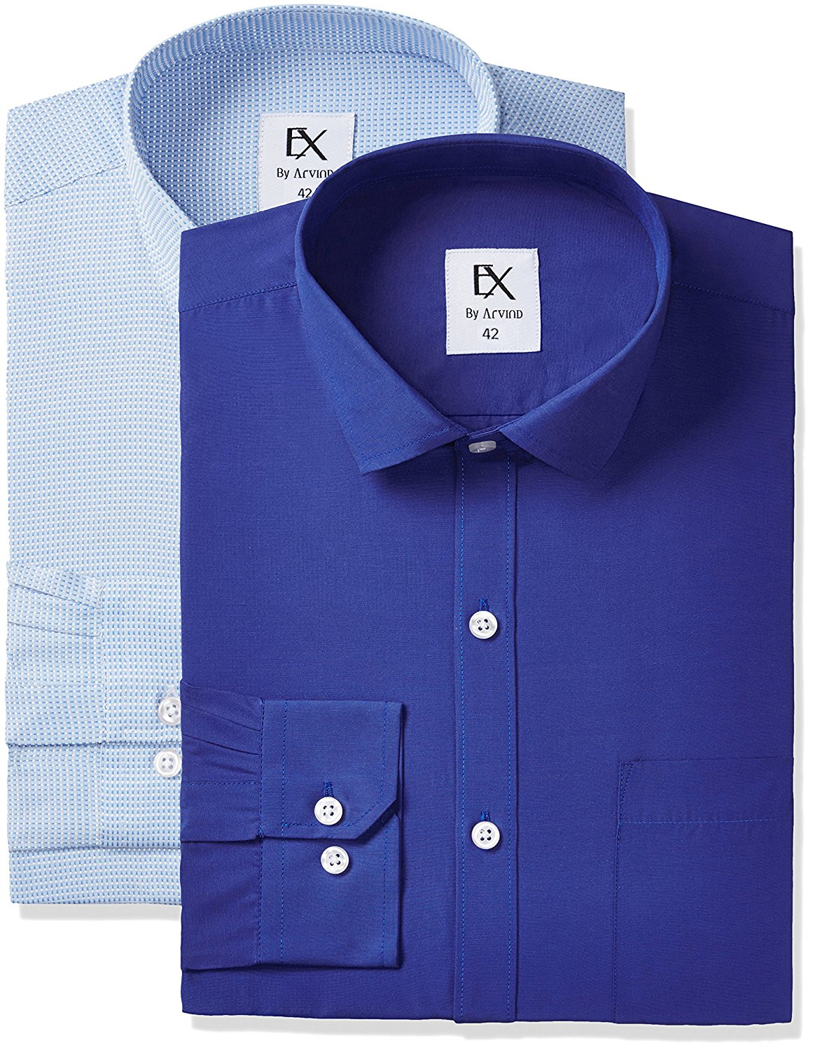 Ex by Excalibur Men's Formal Shirt (Pack of 2)