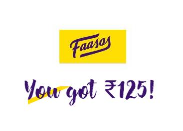 Faasos - Register & Get 125 Credits Worth Rs.125