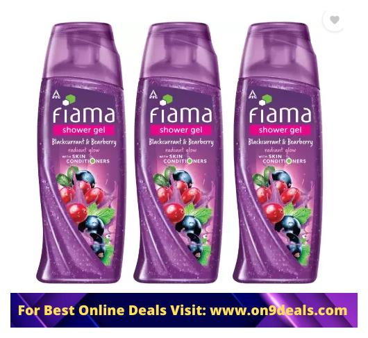 Fiama Black Currant Bearberry Radiant Glow Shower Gel  (3 x 250 ml)