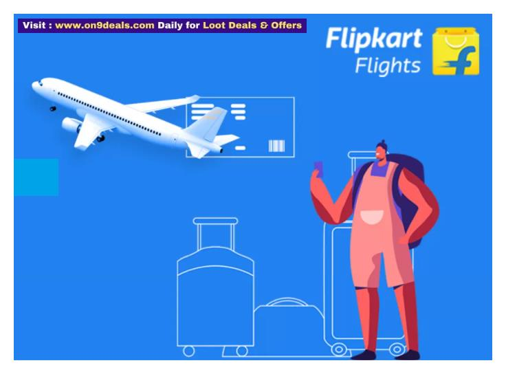 Flipkart - Domestic Flights Booking Flat 10% Discount With SBI Credit Card