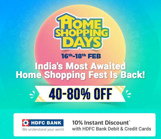Flipkart Home Shopping Days Sale Upto 80% Discount On Home Products 17th - 19th Feb