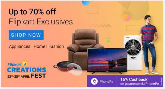 Flipkart Smartbuy Products Sale Upto 70% Discount + 15% Cashback With Phonpe Wallet