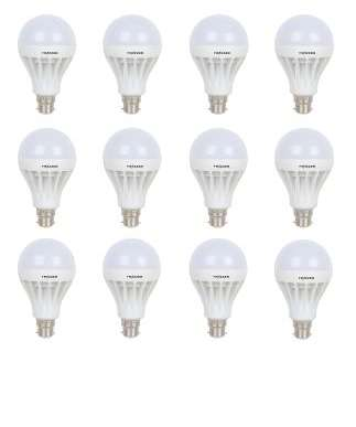 Frazzer 12 W LED BULB ( Combo pack of 12) + 100% Cashback