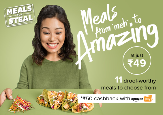 Freshmenu Meals For Steal at Rs.99 Pay using Amazon Pay and get Rs.50 Cashback