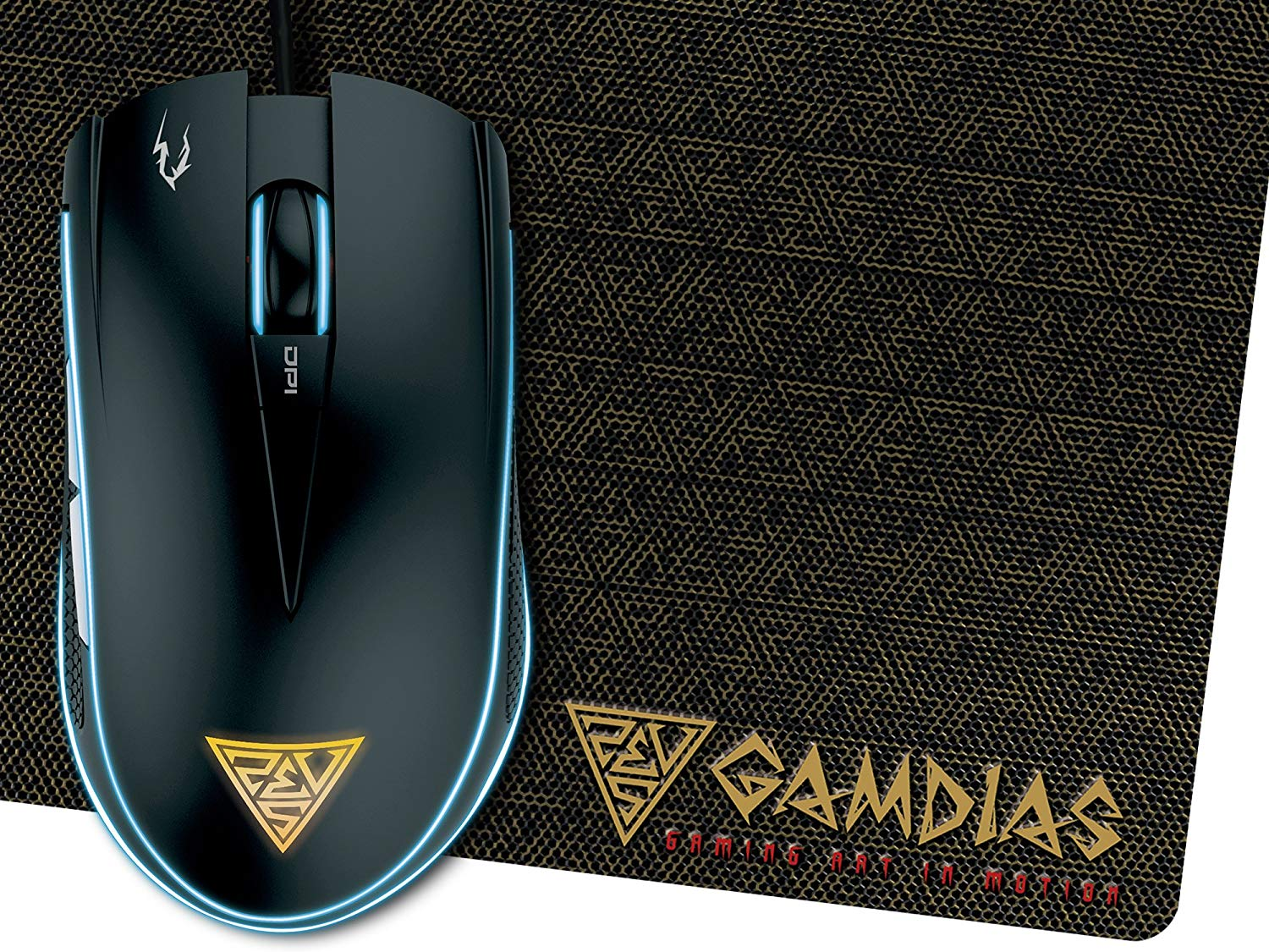 GAMDIAS Zeus E1 Dual RGB Gaming Mouse with Mouse Pad