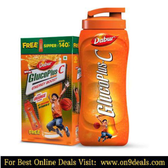GlucoPlus-C Energy Drink  (1 kg, Orange Flavored)