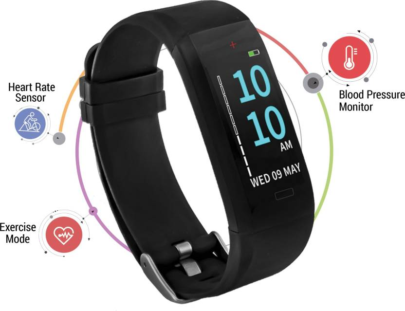 GOQii Vital OLED Display Water Resistant Blood Pressure Heart Rate Daily Steps Calories Burned Sleep Pattern