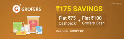 Grofers - Order Groceries Worth Rs.1000 @ Rs.725 Only
