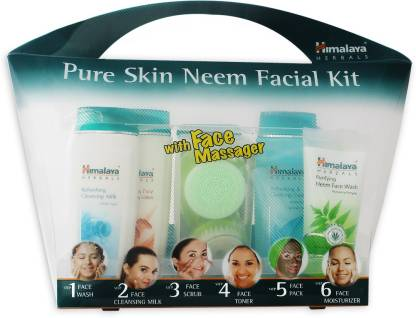 Himalaya Pure Skin Neem Facial Kit with Face Massager