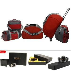 Homeshop18 - Buy 5 Travel Bag Combo and Get 3 Accessories FREE