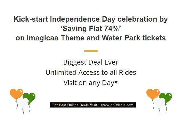 Imagicaa Loot Offer Flat 74% Discount on Tickets Starting From Rs.259 Only Valid for 1 Year