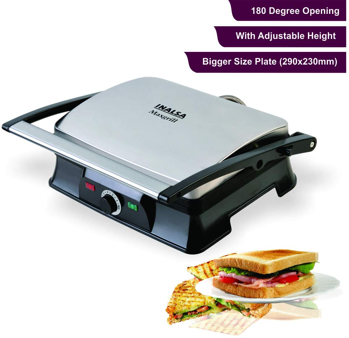 Inalsa Super Jumbo Max-grill Sandwich Toaster